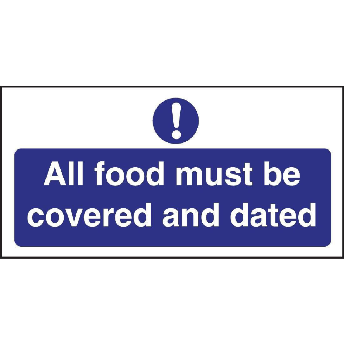 W193 - Food Covered and Dated Sign