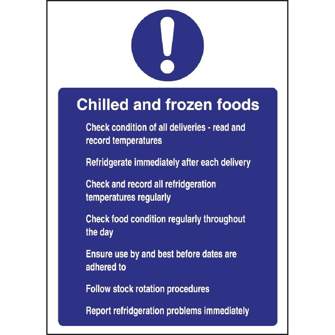 W197 - Chilled and Frozen Foods Sign