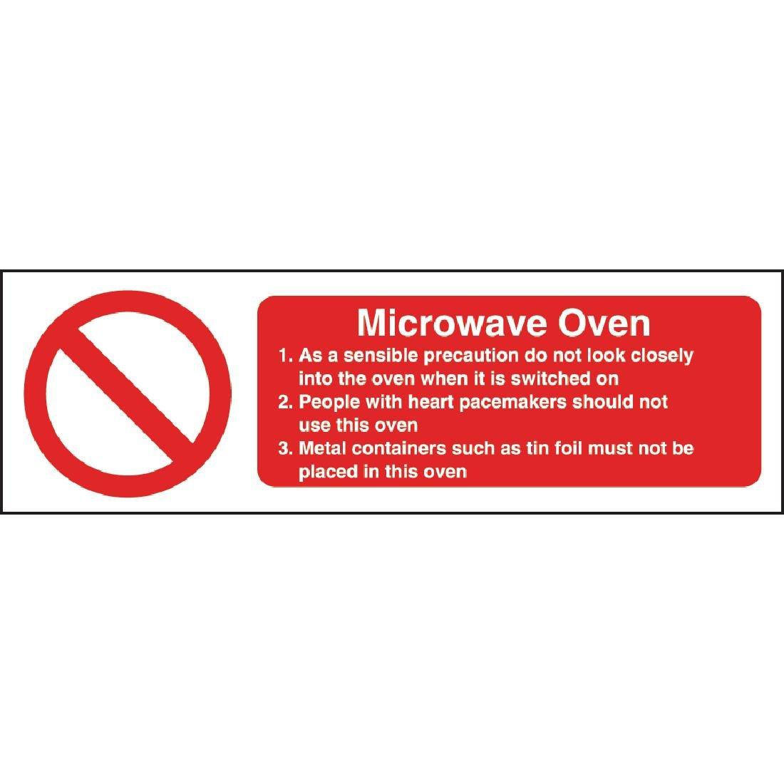 W231 - Microwave Oven Safety Sign