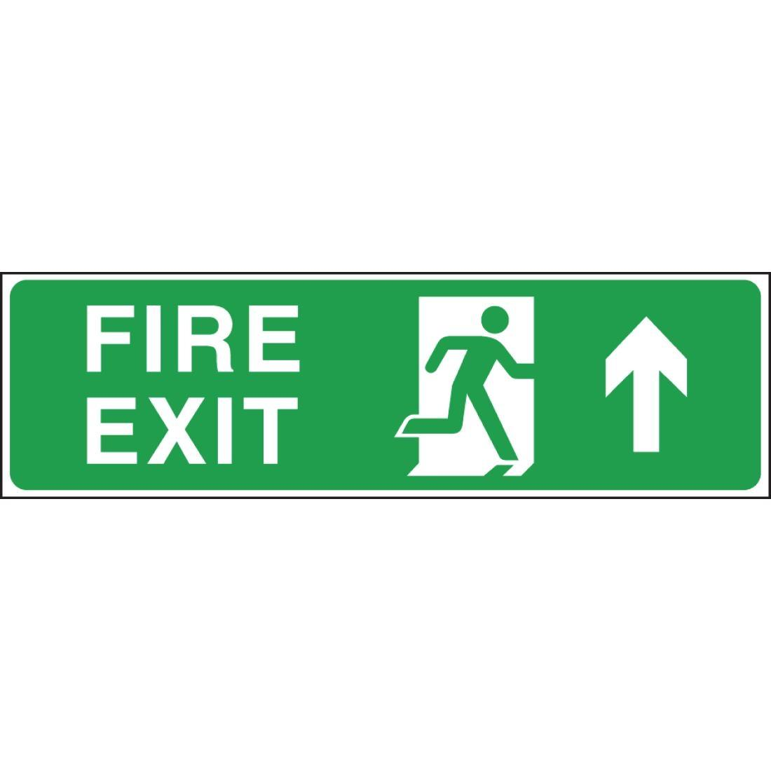W301 - Fire Exit Arrow Up Sign