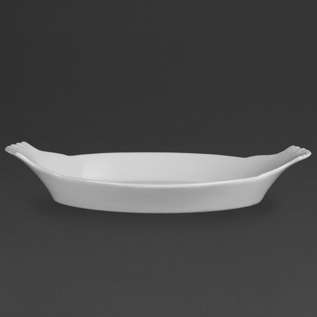 W415 - Olympia Whiteware Oval Eared Dish