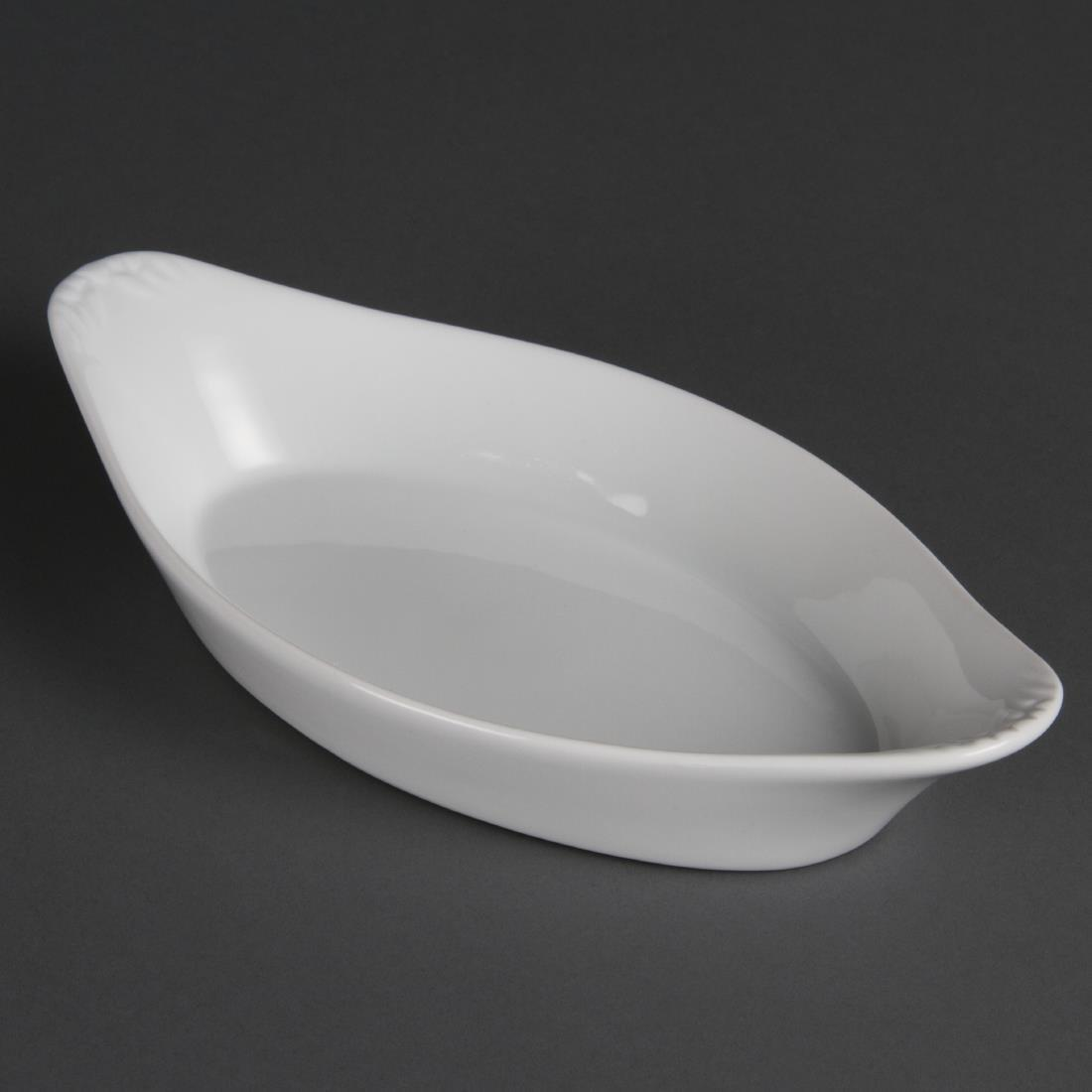 W440 - Olympia Whiteware Oval Eared Dish