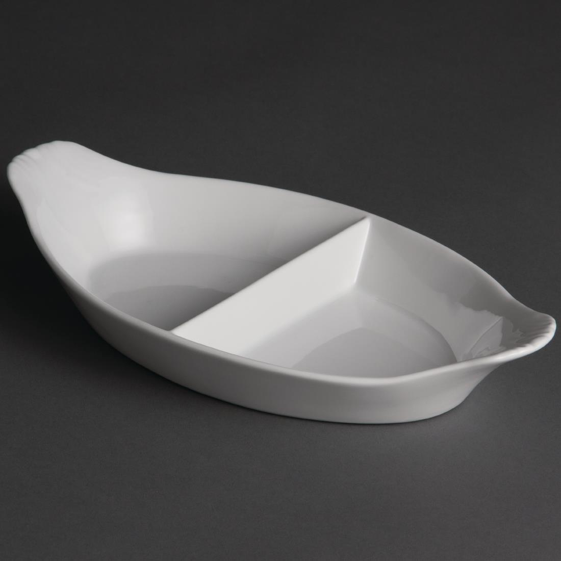 Y100 - Olympia Divided Oval Eared Dish