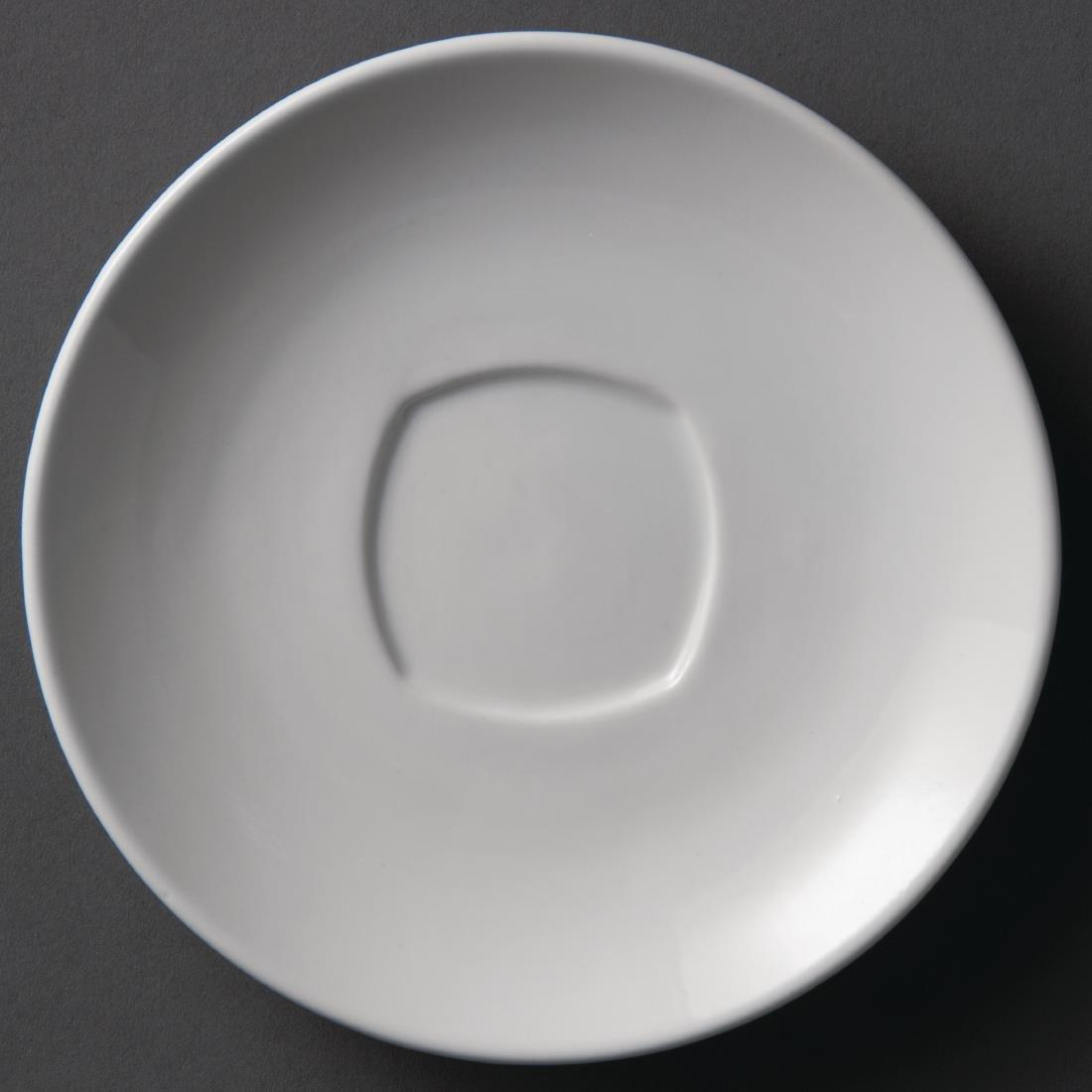 Y116 - Olympia Whiteware Rounded Square Saucer