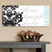 Customized Live, Laugh, Love Filigree Accented Canvas Sign