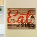 Personalized Reclaimed Wood Restaurant Inspired Sign Canvas Print