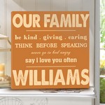 Family Rule Canvas Print