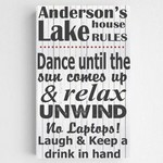 Personalized Lake House Theme Accented Canvas Sign