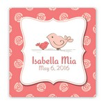 Customized Birds Graphic Accented Nursey Canvas Sign