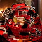 Naughty Nights Romantic Gift Basket - Light your night on fire with an array of tempting  ways to tantalize your Valentine this year.