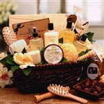Spa Therapy Relaxation Gift Hamper - Warm vanilla infuses an invigorating collection of spa bath and body products