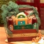 Moncho Mans Meat and Cheese Snack Gift Basket - Dads Love this Gift!