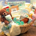 Welcome Home Deluxe Baby Basket-Yellow - Everything Baby Needs is Here!