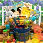 Little Blue Bunny Easter Fun Pail - More Easter Treats than Sweets
