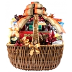 A Cut Above Cheese And Sausage Gift Basket - A combination of cheese, meats, snacks and sweet treats featuring Free Ground Shipping.