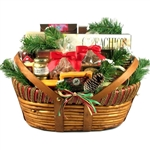Home For The Holidays Gift Basket Large - A combination of cheese, meats, snacks and sweet treats.
