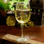 Personalized Wine Glass with World's Greatest Mom Theme