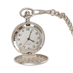 Brushed Silver Pocket Watch