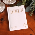 Personalized White Laser Engraved Bible