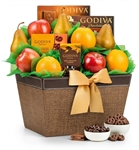 Godiva Chocolate and Fruit Delight Gift Basket -Delight them with the sweet gift of fresh fruit and decadent chocolate!