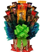 Skittles and More Candy Bouquet a delicious mix of sweet and sour plus chocolate