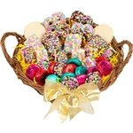 Large Confetti Celebration Gourmet Gift Basket - Gourmet bakery treats to make any celebration sweeter