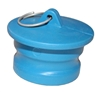 "2"" Male Dust Plug, Blue Santoprene - P/N 200DP-S"