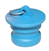 "3"" Male Dust Plug, Blue Santoprene - P/N 300DP-S"
