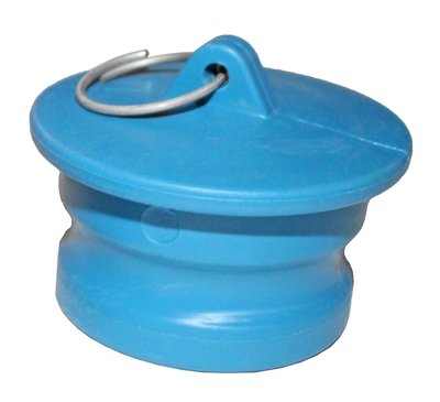 "4"" Male Dust Plug, Blue Santoprene - P/N 400DP-S"