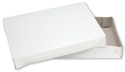 11.5x8.5x1.625 2pc White Apparel Box