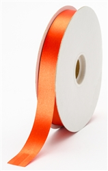 small rust satin ribbon