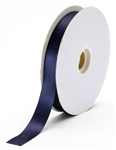 small navy satin ribbon