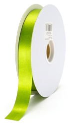 small green grass satin ribbon