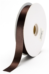 small chocolate satin ribbon