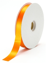 small tangerine satin ribbon