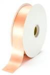large peach satin ribbon