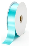 large aqua satin ribbon