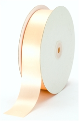 large light peach satin ribbon