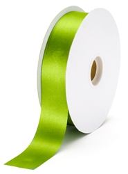 large green grass satin ribbon