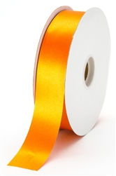 large tangerine satin ribbon