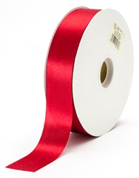 large scarlet satin ribbon