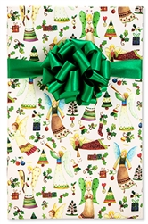 24 x 15 Ft. Christmas Angels Christian Gift Wrap