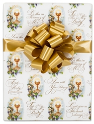 24 In X 10 Ft. First Communion Gift Wrap