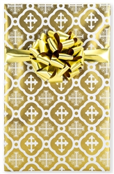Metallic Gold Cross Gift Wrap