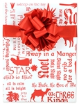 24 x 15 Ft. Hymns and Carols Christian Christmas Gift Wrap