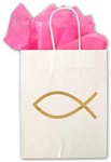 White Christian Fish Gift Bag