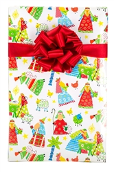 Kids Nativity Christian Christmas Gloss Gift Wrap
