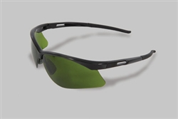 Radnor® IR Series Safety Glasses With Black Frame And Green Shade 3 Polycarbonate Anti-Scratch Lens