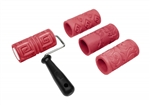 Amaco Textured Clay Rollers 4 Textures and 1 Handle Set