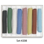 Amaco Underglaze Decorating Chalk Crayons SET 208